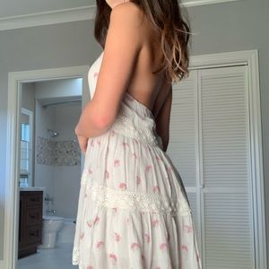Billabong Floral/Lace Halter Dress